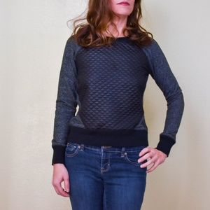 Mossimo Supply Co. Sweaters - 4/$25 MOSSIMO Black Quilted Colorblock Sweater